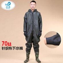 Pantalon de wading extérieur lié par corps chaud imperméable, protection de lenvironnement, tissu tricoté par 70 fils, logo fait sur commande de pantalon de corps entier