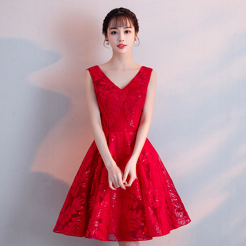 Bandage Red Graduation Dresses Lace Sexy Women Cocktail Slim Dress Sleeveless Homecoming Party A Line Prom Gown Abendkleider(China)