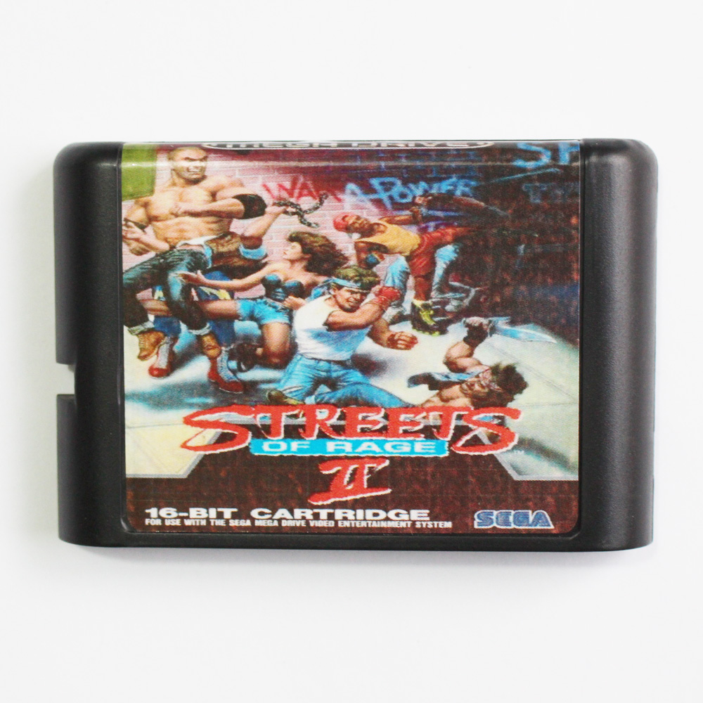 The Street Of Rage 2 Game Cartridge Newest 16 bit Game Card For Sega Mega Drive / Genesis System mickey mouse castle of illusion