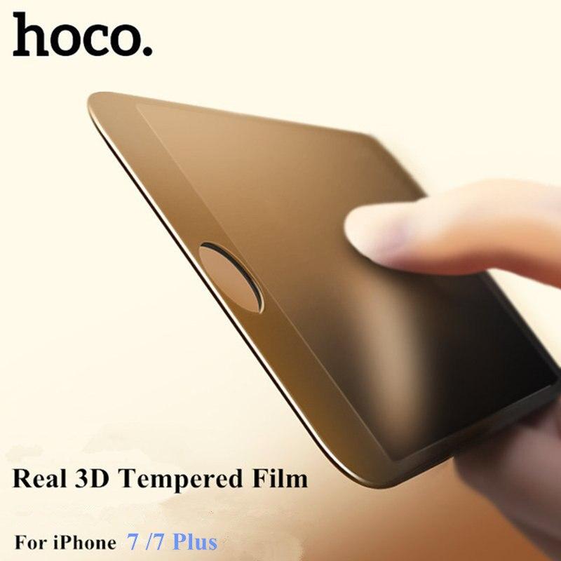 imágenes para HOCO 3D Borde Curvo cubierta completa de Vidrio Templado Para el iphone 7 completo pantalla de vidrio templado para el iphone 7 plus con El Paquete Al Por Menor