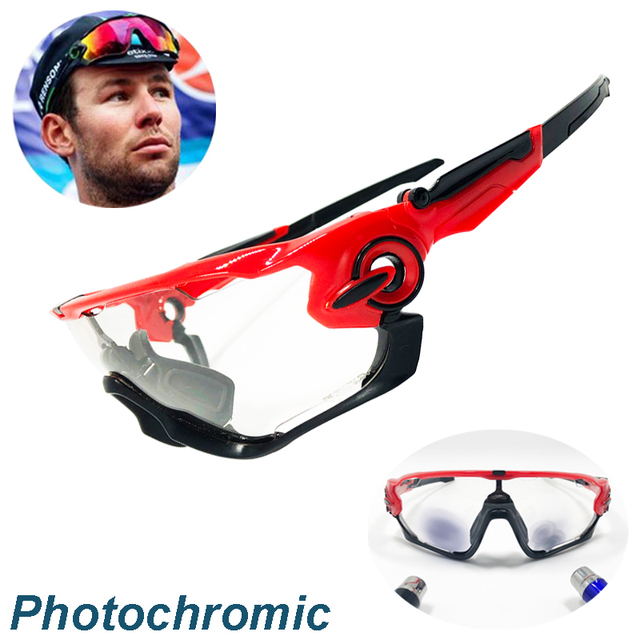 4 Lens Jaw Breaker Outdoor Sports Cycling Glasses Photochromic Polarized Men Cycling Eyewear Sunglasses with Myopia Frame