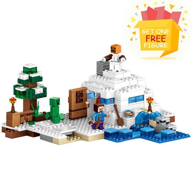 Bela Compatible Legoe Minecrafte Ice My World Zombies Building Blocks - Juguetes de construcción - foto 1
