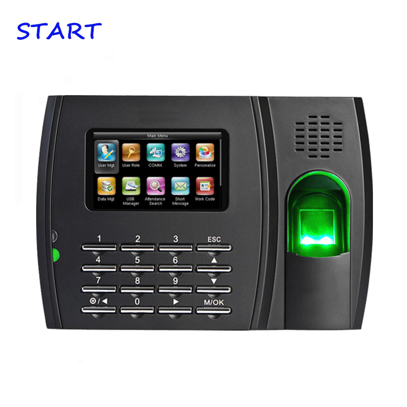 ZK U8 High Speed Linux System TCP/IP Fingerprint Employee Attendance Time Recorder Time Attendance With RFID And MF Card Reader