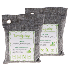 2 Pack 500g Bamboo Charcoal Air Purifying Bag Car Freshener Closet Purifier Home Gray
