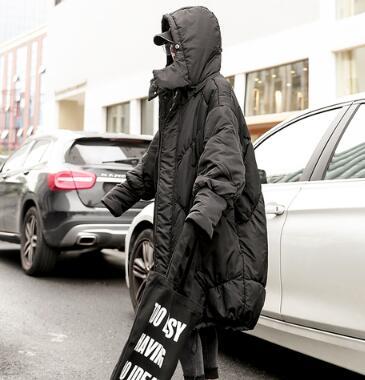 Vestes noir Manteau Célèbre Rembourrées Coton À Surdimensionnée Beige bleu Lâche Nouveau 2018 Mujer Et Manteaux Mode Capuche La Am219 Parkas Bnwq0Uf