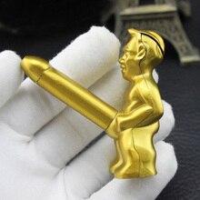 Creative Mini Nude Man Cigarette Lighter Refillable Butane Fire Funny Ornaments