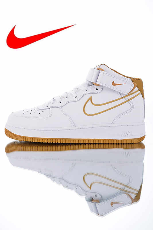 super popular eb7e0 012f6 Original Nike Air Force 1 Mid  07 Leather Men s Skateboarding Shoes,  Breathable Shock Absorbing