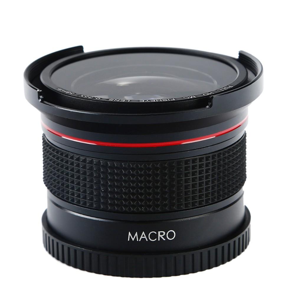 K&F CONCEPT HD 0.35x 58mm/52mm Fisheye Macro Wide Angle Lens for Canon EOS 700D 650D 600D 550D Rebel T5i T4i T3i T2i DSLR Camera 8