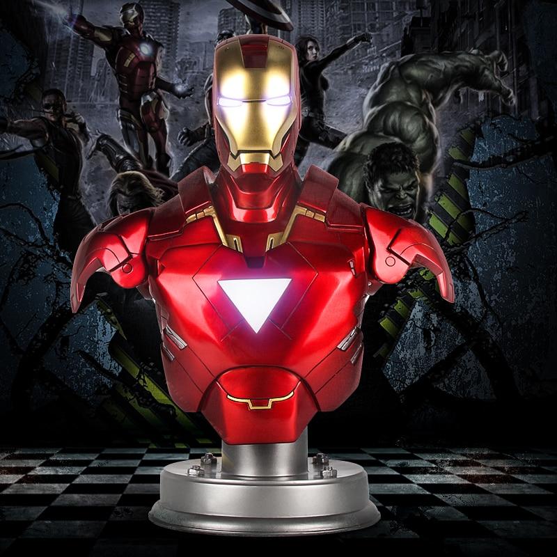 Avengers 1:1 Iron Man half bust Size Resin statue Scale iron man MK3 present