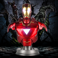 42 65CM 1/1 Scale The Avengers Anime Figure Iron Man Dolls MK6 AND MK7 Action Figure Resin Statue Bust Model Decoration Toy Ver