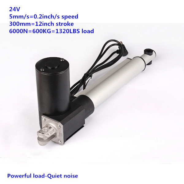 цена на 300mm 12inch stroke 6000N 600KG force 5mm/s speed 24V DC recliner chair linear actuator furniture motor furniture spare parts