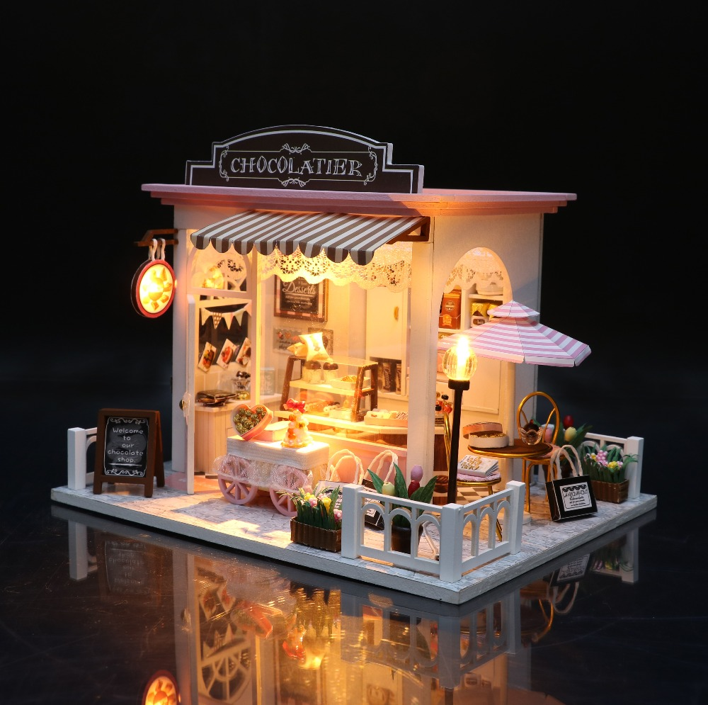 Diy Wooden Miniature 3d House Furniture Sweet Pink Girl Heart Dollhouse Furniture Kit Toys Children Christmas New Year Gifts With The Most Up-To-Date Equipment And Techniques Architecture/diy House/mininatures Toys & Hobbies