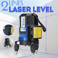 360 Rotary Slash Function 2 Line Blue Cross Beam Line 3D Self Leveling Vertical Horizontal Laser Level Measuring Indoor/Outdoor