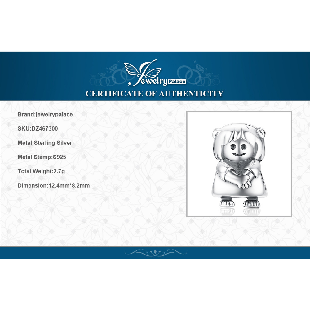 JewelryPalace Girl Doll 925 Sterling Silver Beads Charms Silver 925 Original For Bracelet Silver 925 original For Jewelry Making in Beads from Jewelry Accessories