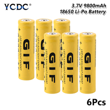 1/2/4/6/8x High Capacity 3.7V 9800mAh GIF 18650 Battery 3.7 Voltage Rechargeable Lithium Batteries Li Ion Case GIFT