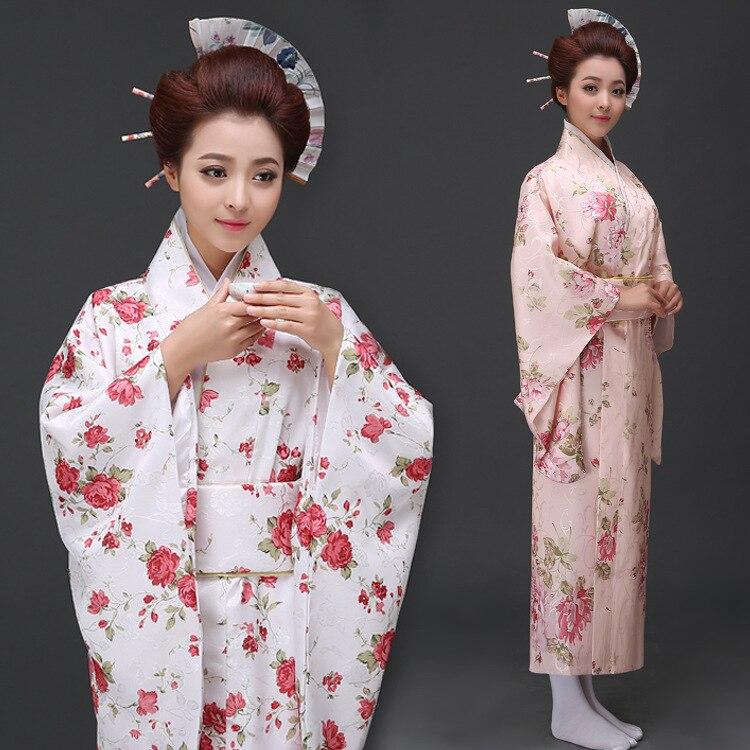 Robe traditionnelle japonaise à manches longues femme Kimono japonais femmes Yukata Party Cosplay Costume japonais National Robe 89
