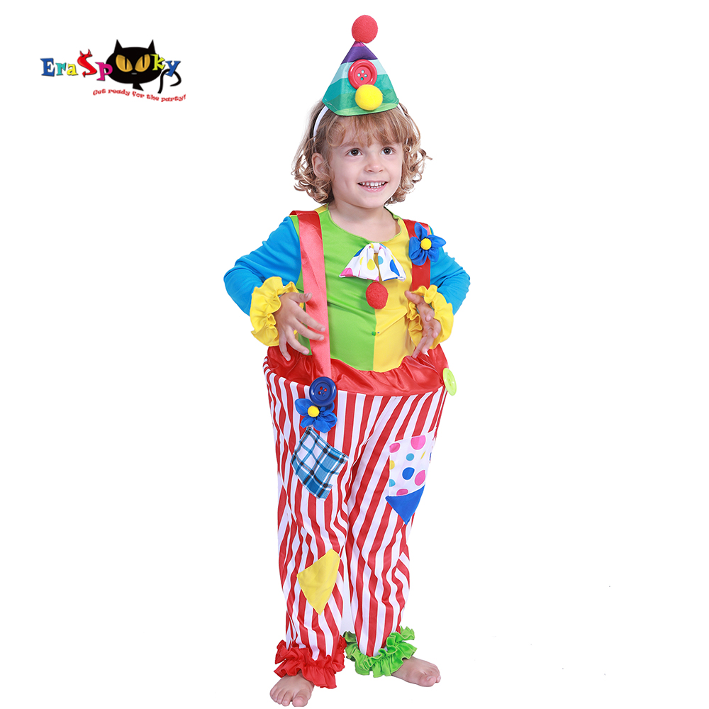 Carnival Party Costumes Boys Halloween Costume For Kids Cute Circus Clown Jumpsuit Fancy Dress Toddler Joker Children Cosplay