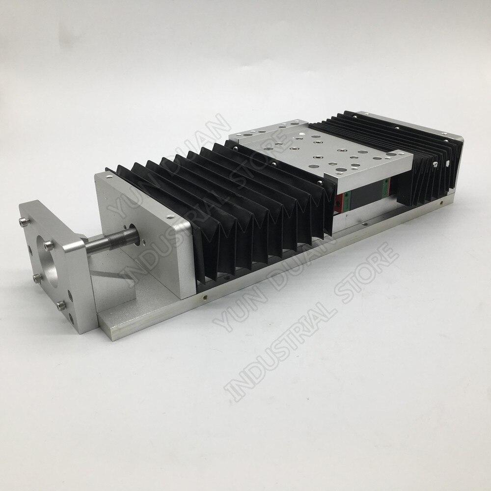 200 MM 8 pulgadas carrera XYZ Mesa deslizante eléctrica deslizable etapa lineal SFU1605 tornillo de bola HG15 plataforma guía y cubierta de polvo a prueba de polvo