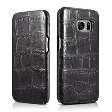 ICARER for Galaxy S 7 Leather Cover Bag Crocodile Genuine Leather Flip Case for Samsung Galaxy S7 G930