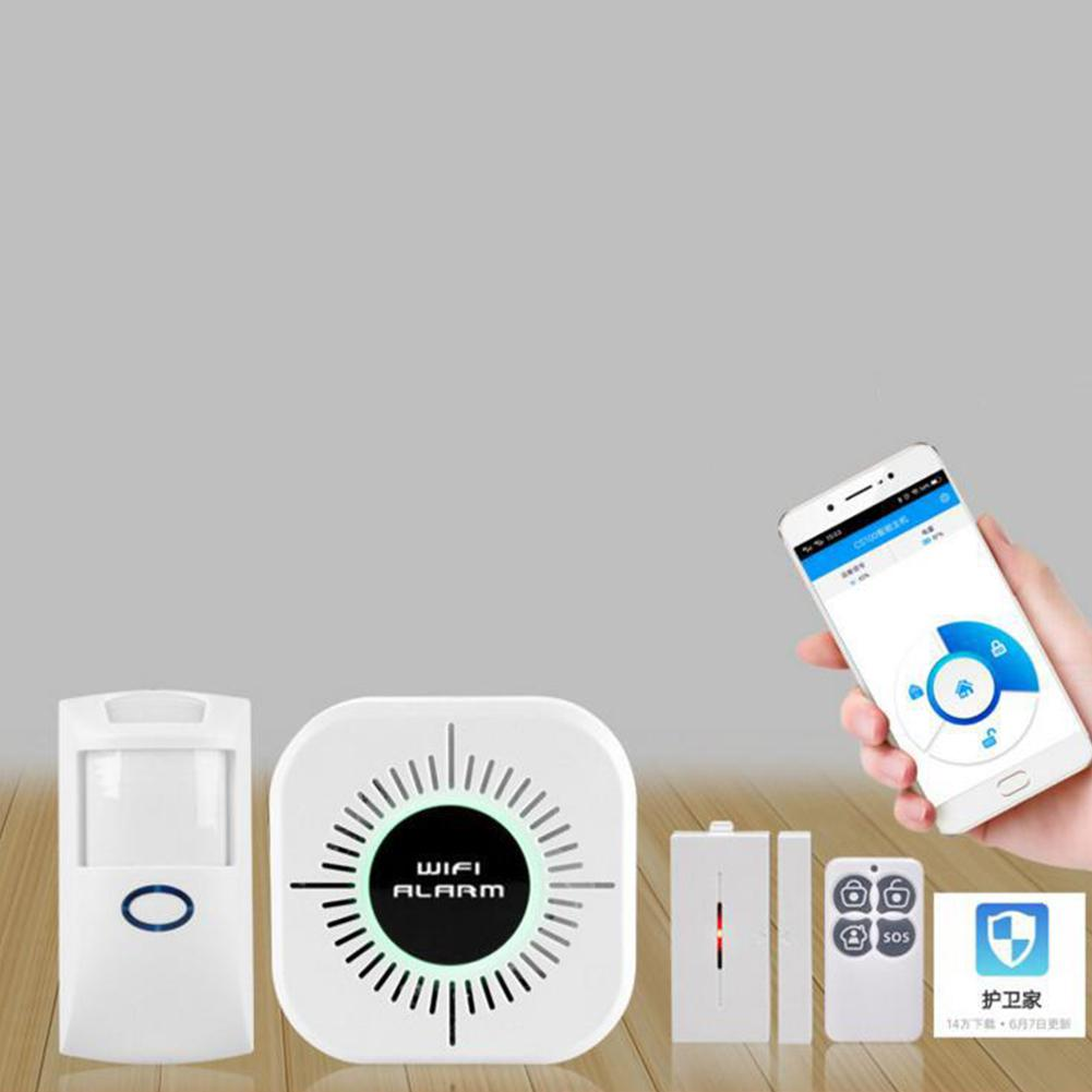 None Wireless Wi-Fi Smart Home House Office Security Burglar Alarm Systems Kit r20