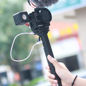 Image 2 - Ulanzi V3 Vlog 케이스 금속 케이지 Gopro 7 6 5 Vlogging 케이스 52 미리 메터 렌즈 필터 원래 마이크 전원 어댑터 Gopro