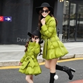 Autumn and winter clothes baby mama series matching mother daughter dress casual fashion thick cotton clothing Family Package 3