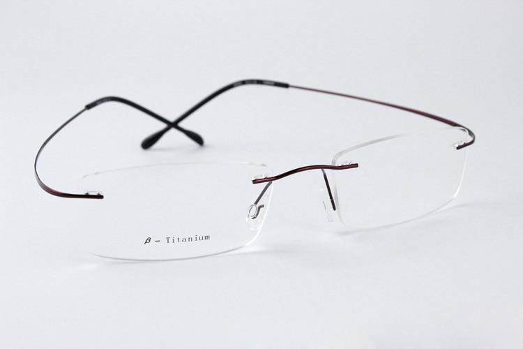 9c1bb04bd755 Rimless Reading Glasses Women Men Memory Titanium Oculos De Grau Femininos  Flexible Prescription Spectacle Glasses 6669K