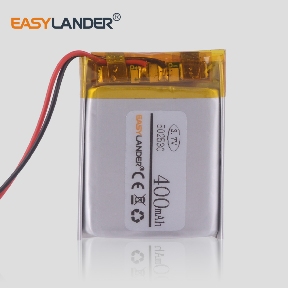 3.7V 502530 400 mah akumulator litowo-polimerowy słuchawki wideorejestrator Krasnodar
