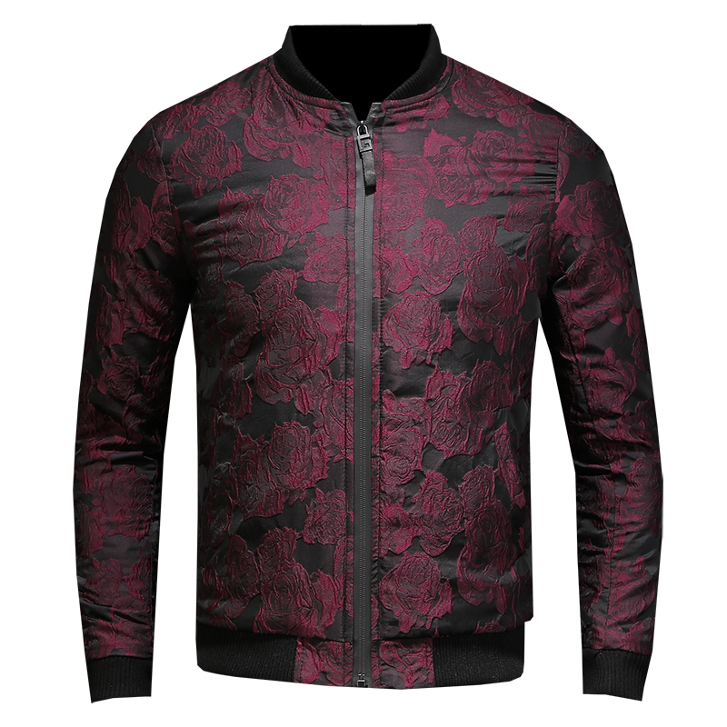 HCXY 2018 Autumn New Jacquard Bomber Jackets Men Luxury Hot stamping Party Jacket Outfit Club Bar Coat Men Casaca Hombre 5XL