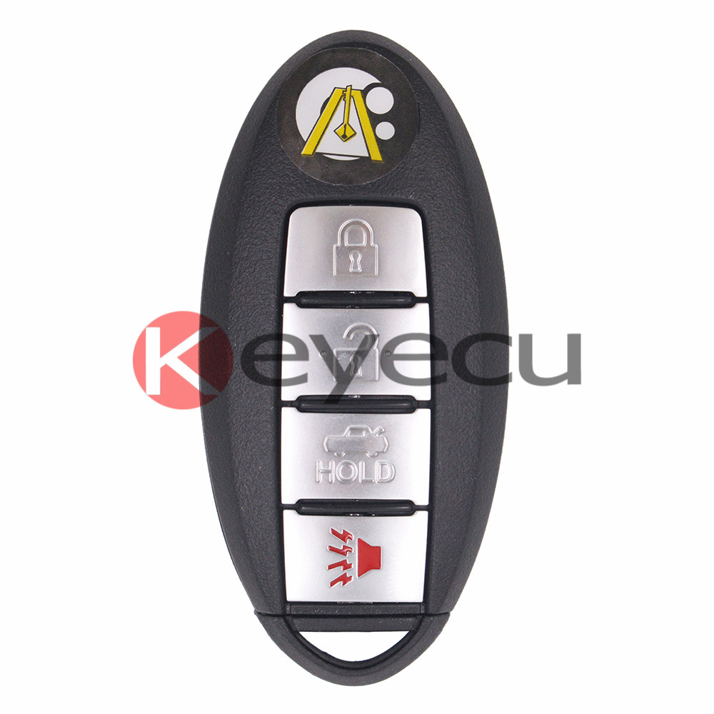 Smart Remote Key Fob Clicker 4 Button 315MHz ID46 Chip for Nissan Teana 2005-2008 Keyless Entry