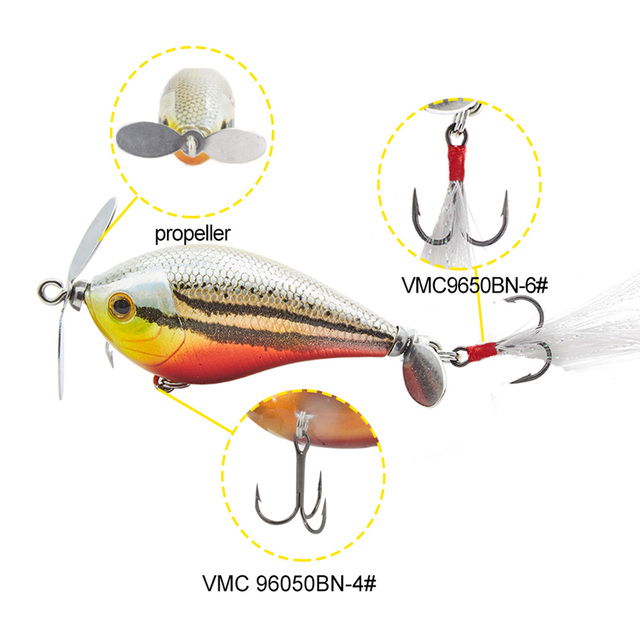 US $4 44 30% OFF|Hunthouse prop crankbait 2018 new bass lure floating  poisson nageur fishing wobblers kunstaas 60mm 13g best price feather  tail-in