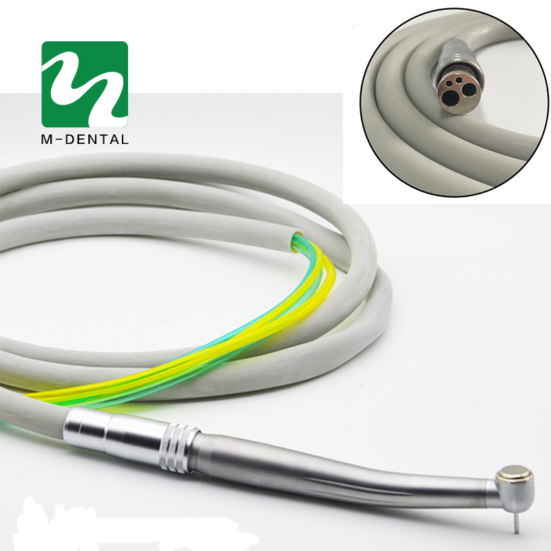 Dental 4 Holes Handpiece Hose Tube with Connector for High Speed Handpiece Dentistry Material Free Shipping