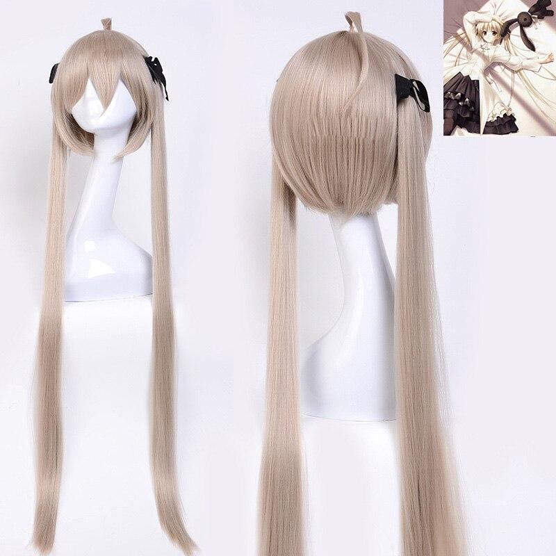 Yosuganosora Kasugano Sora In Solitude Cosplay Wig 100cm Blonde Synthetic Hair Costume Wig Heat Resistance Fiber+