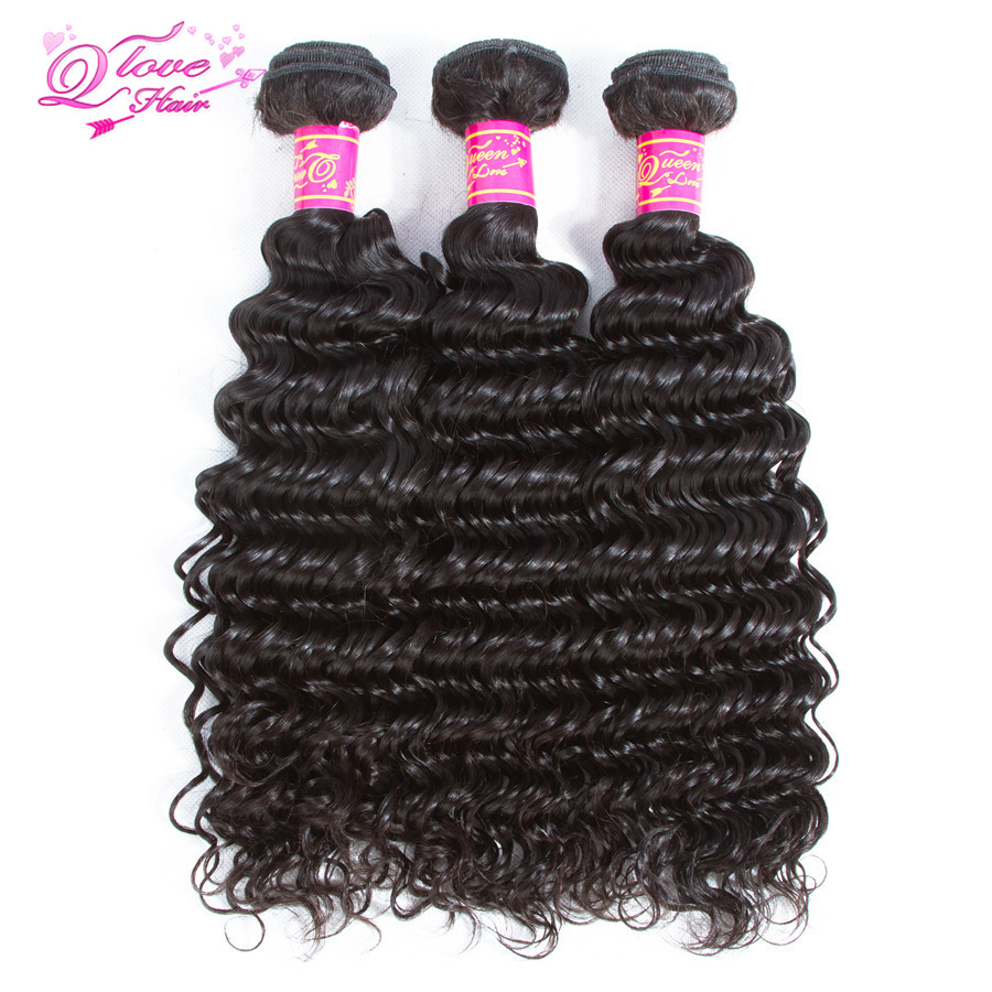 Queen Love Hair Deep Wave Malaysia Hair Weave Bundles 100% Human Hair Bundles 100g/pcs Remy Hair Extension Natural Color