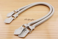 22 inch PU leather imitation bag strap leather handles bag making a pair off-white K3