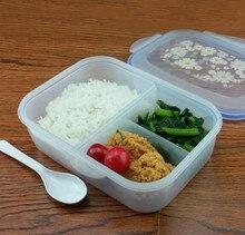 Alta Calidad 1000 ml Envase de Alimento Plástico Sano 3 celular Almuerzo Cajas Bento Microondas Lonchera horno