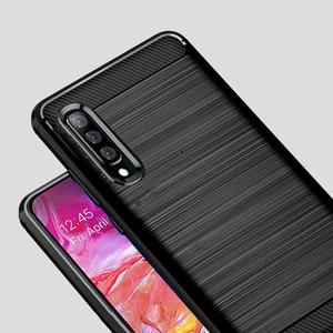Image 2 - Чехол из углеродного волокна для Samsung Galaxy A70, противоударный чехол для телефона Samsung A50, A70s, A, 70 s, гибкий чехол бампер