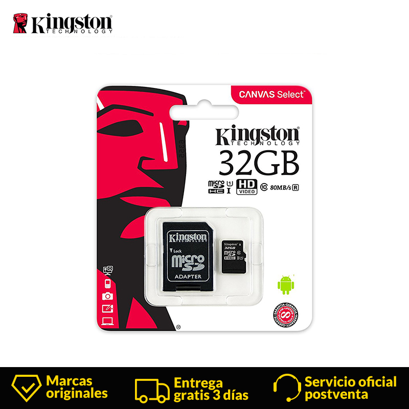 Kingston mini Micro SD Card 64GB/16GB/32GB/128 &256GB Class 10 Memory Card Class10 SD/TF Card microsd Card UHS I for Smartphone-in Micro SD Cards from Computer & Office