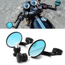 """Evrensel 7/8 """"yuvarlak demir son arka aynalar Moto motosiklet motosiklet scooter dikiz aynası yan dikiz aynaları Cafe Racer için"""