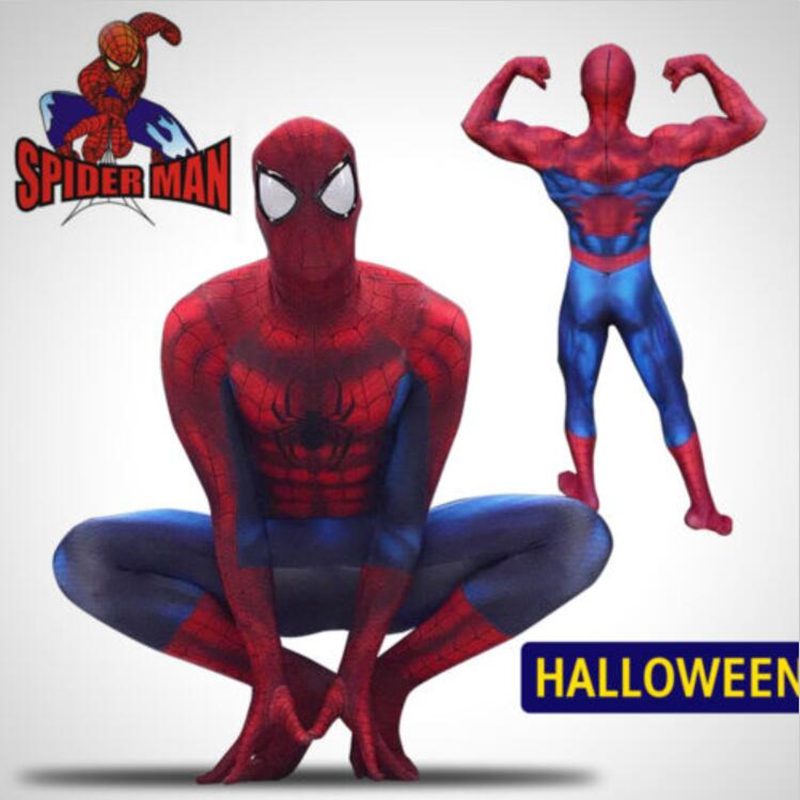 Adult Kids Amazing Spider Cosplay Costume 3D Printing Zentai Superhero Spider Muscle Bodysuit Suit Jumpsuits