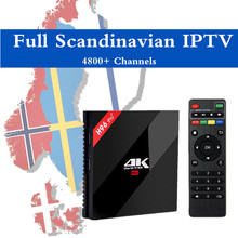 Scandinave IPTV H96 Pro + Android 7.0 TV Box IPTV Danois norvégien Suédois Europe IPTV 4700 Chanel Amlogic S912 3G/32G H.265 4 K