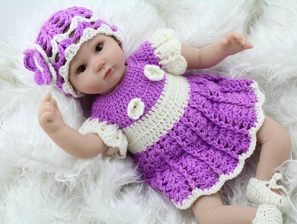 Silicone souple Reborn bébé poupée bébé vivant poupée cadeaux pour filles vinyle jouets en peluche main au crochet vêtements réalistes Bonecas Bebe