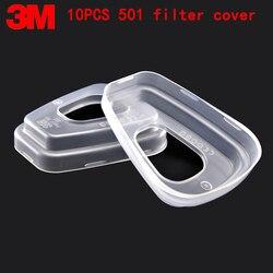 3M 501 osłona filtra oryginalne opakowanie wysokiej jakości 5N11 bawełniany filtr pokrywa 6200/7502 maska osłona filtra gazu akcesoria do masek w Maski od Bezpieczeństwo i ochrona na