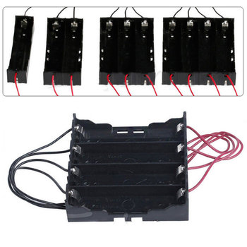 New DIY 18650 Battery Box Black Plastic Batterries Holder Storage Case For 1x/2x/3x/4x 18650 rechargeable battery With Wire Lead