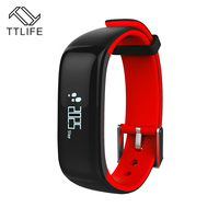 TTLIFE P1 Bluetooth Smartband Blood Pressure Monitor Heart Rate Monitor Wristband Waterproof IP67 Smart Bracelet Wearable