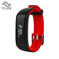 TTLIFE P1 Bluetooth Smartband Blood Pressure Monitor Heart Rate Monitor Wristband Waterproof IP67 Smart Bracelet Wearable