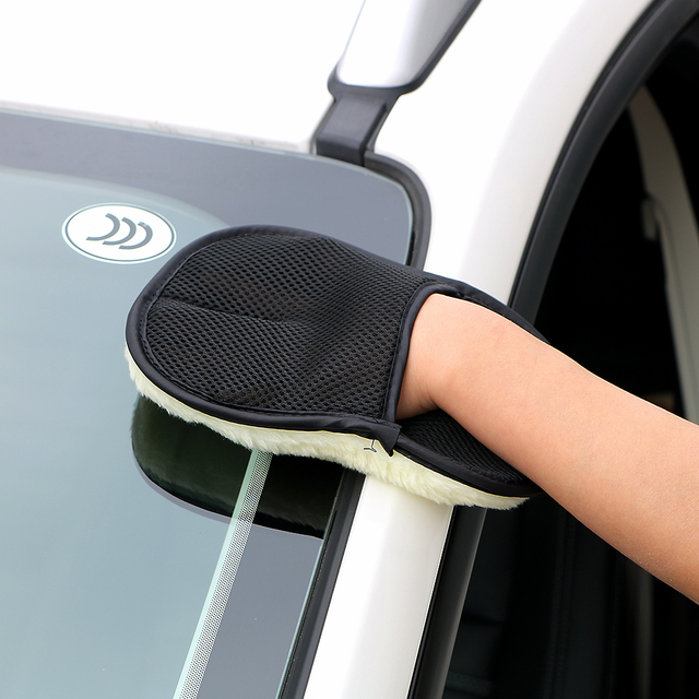 Car Wash Gloves Microfiber Cleaning Tools Car Care Soft Wool Brush Auto Cleaner Accessories Car Washing Cloth Car-styling