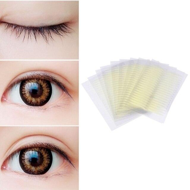 40 piezas 3D Invisible con forma de oliva de doble cara de párpados adhesivo cinta de maquillaje cintas finas invisibles accesorios transparentes