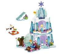 New 299Pcs Elsa S Sparkling Ice Castle Anna Olaf Princess Model Building Kits Blocks Bricks Girl