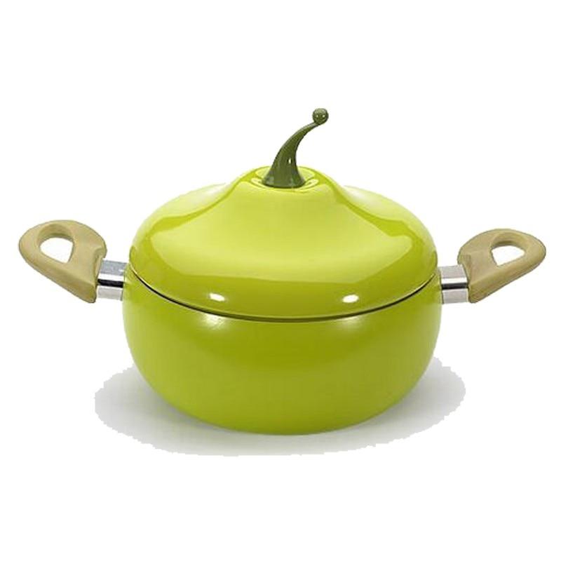 Aluminum 20cm Creative Fruit Soup Pot Milk Pot Pear Pot Kitchen Nonstick Smokeless Electromagnetic Oven